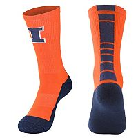 Women's Mojo Illinois Fighting Illini Champ 1/2-Cushion Performance Crew Socks