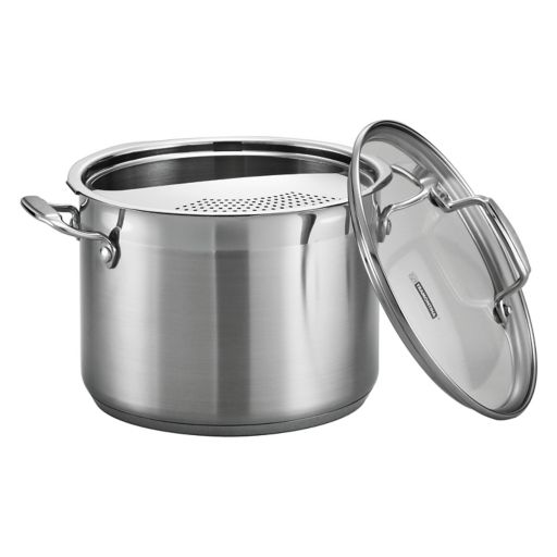 Tramontina Gourmet Tri-Ply Base 6-qt. Stainless Steel Pasta Cooker