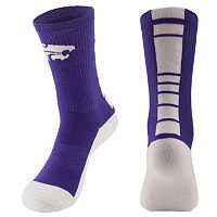 Women's Mojo Kansas State Wildcats Champ 1/2-Cushion Performance Crew Socks