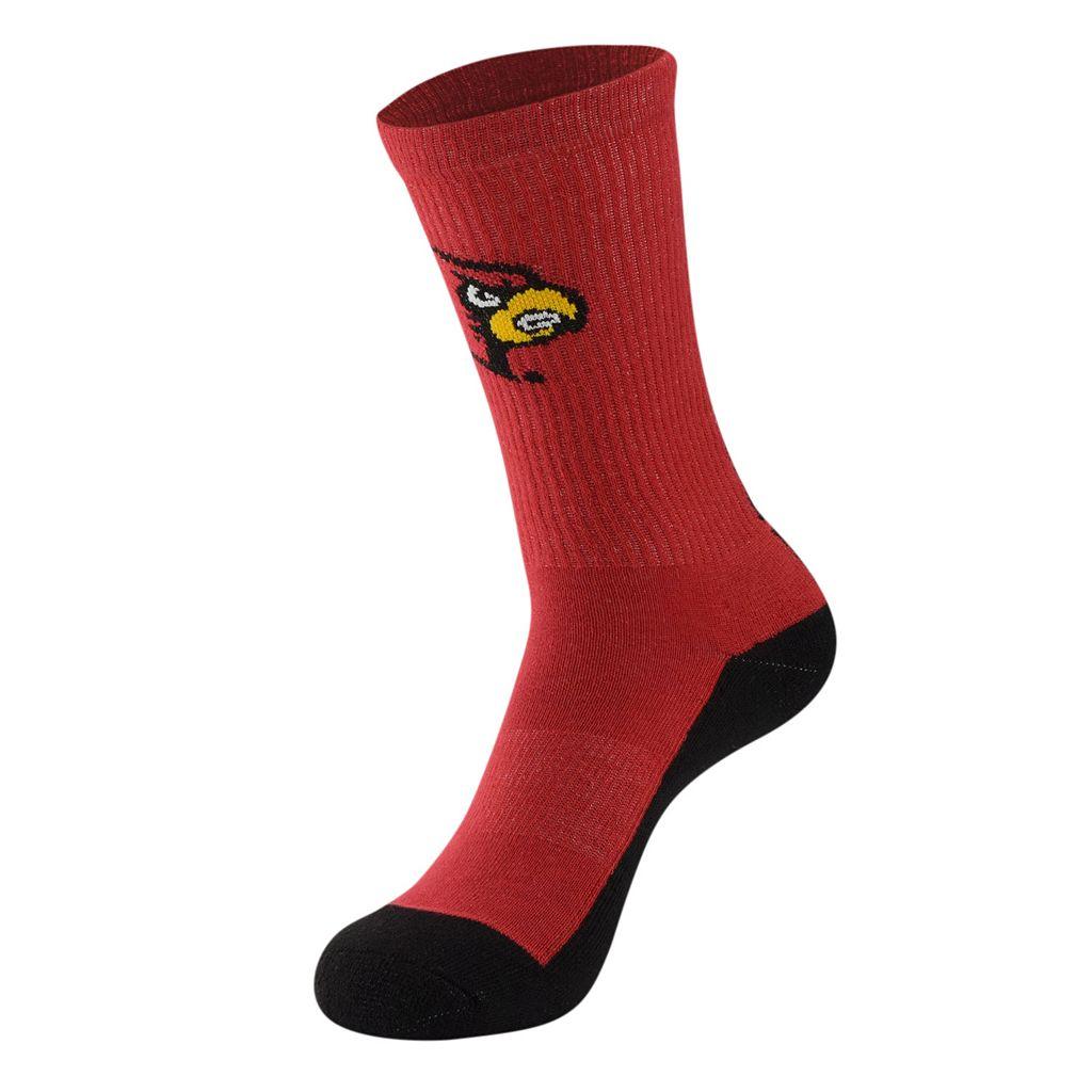 Women's Mojo Louisville Cardinals Champ 1/2-Cushion Performance Crew Socks