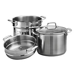 Tramontina Gourmet Tri-Ply Base 4 pc 8-qt. Stainless Steel Multi-Cooker