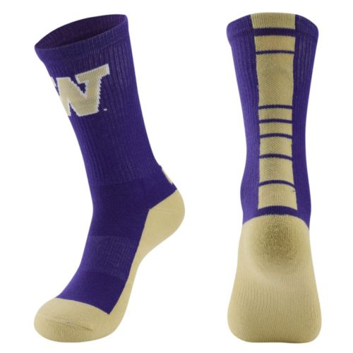 Women's Mojo Washington Huskies Champ 1/2-Cushion Performance Crew Socks