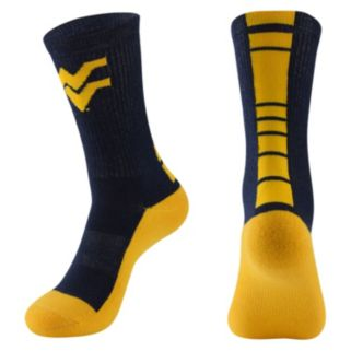 Women's Mojo West Virginia Mountaineers Champ 1/2-Cushion Performance Crew Socks