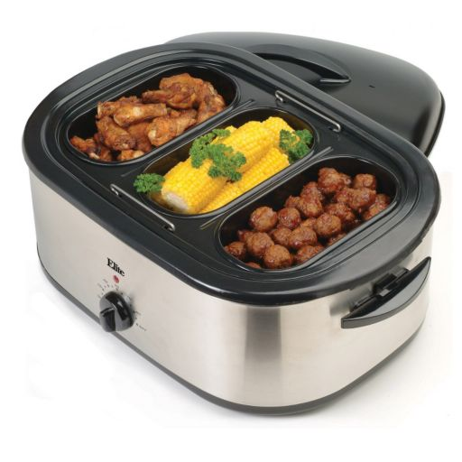 Elite Platinum 18-qt. Roaster Oven with Buffet Server and Electric Knife