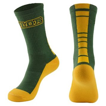 Women's Mojo Baylor Bears Champ 1/2-Cushion Performance Crew Socks