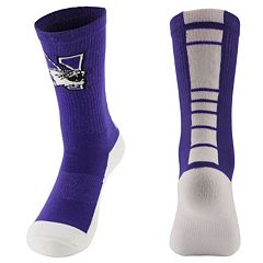 Women's Mojo Northwestern Wildcats Champ 1/2-Cushion Performance Crew Socks