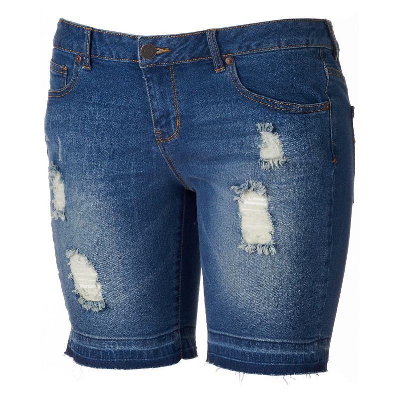 SO® Released Hem Bermuda Jean Shorts - Juniors' Plus