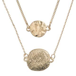 LC Lauren Conrad Textured Disc Multistrand Necklace