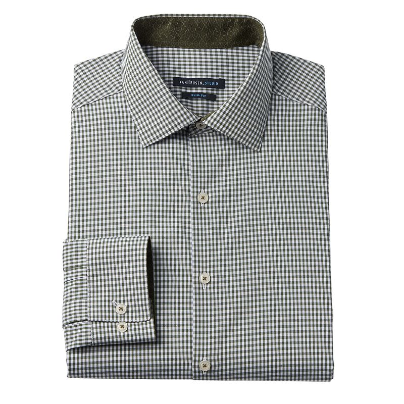 Van Heusen Checked Dress Shirt Kohl 39 S