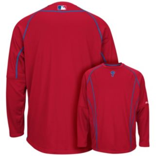 Men's Majestic Philadelphia Phillies On-Field Practice Therma Base Fleece Pullover