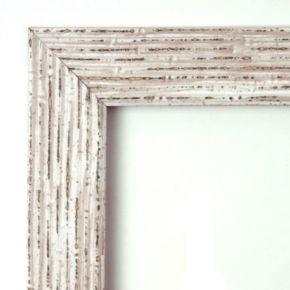 Cape Cod Whitewash Distressed Wood Square Wall Mirror