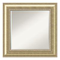 Astoria Square Champagne Finish Wood Wall Mirror