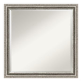 Bel Volto Silver Finish Modern Wood Wall Mirror