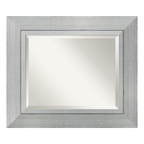 Romano Modern Silver Finish Wood Wall Mirror