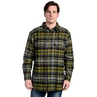 Men's Stanley Plaid Sherpa-Lined Flannel Shirt Jacket