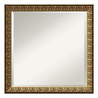 Solare Gold-Tone Traditional Square Wall Mirror