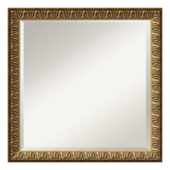 Solare Gold-Tone Traditional Square Wall Mirror