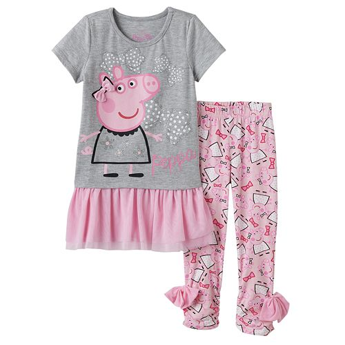 Peppa Pig Girls Sweatshirt and Leggings Set