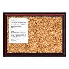 Rubino Cherry Finish Traditional Cork Board Wall Decor