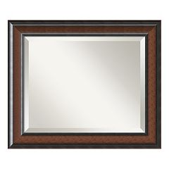 Cyprus Walnut Finish Wall Mirror