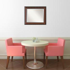 Cyprus Walnut Finish Wall Mirror