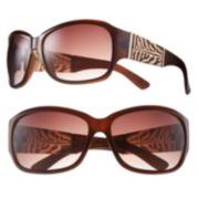 Dana Buchman Animal Oversized Wrap Sunglasses - Women