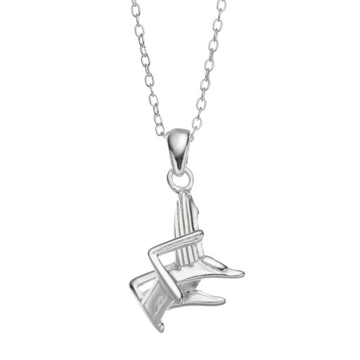 Sterling Silver Adirondack Chair Pendant Necklace