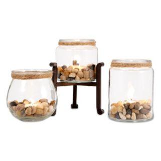 San Miguel 3-piece Edgewood Votive Candleholder Set