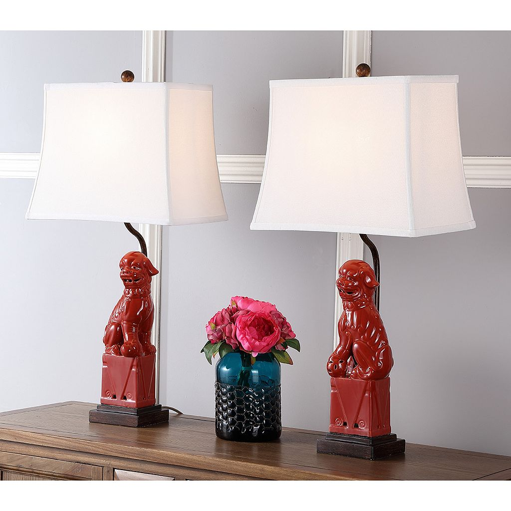 Safavieh 2-piece Foo Dog Table Lamp Set