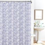 Plisee Floral 14-pc. Fabric Shower Curtain, Liner & Hook Set