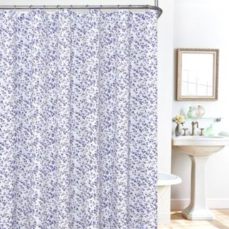Plisee Floral 14-pc. Fabric Shower Curtain, Liner and Hook Set