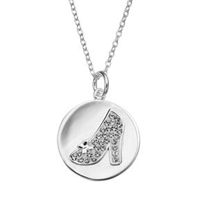 Disneys cinderella crystal silver plated slipper pendant necklace disneys cinderella crystal silver plated slipper pendant necklace aloadofball Image collections