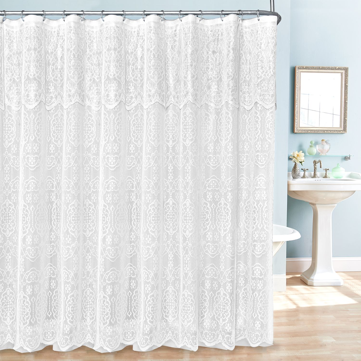 Fabric Shower Curtain, Liner U0026 Hook Set