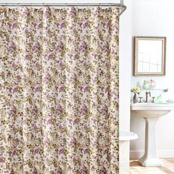 Plisse Leila 14-pc. Fabric Shower Curtain, Liner & Hook Set