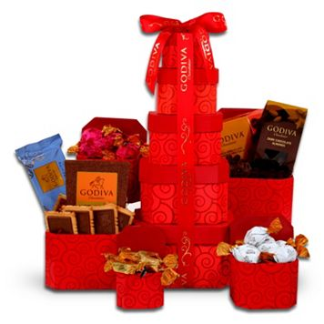 Alder Creek Godiva Chocolate Tower Gift Set