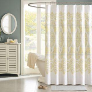 Madison Park Jalisco Fabric Shower Curtain