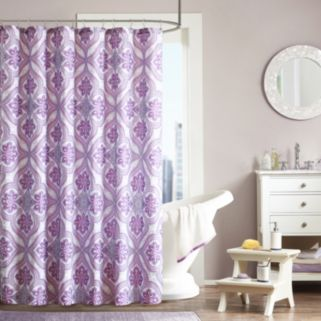 Intelligent Design Audrey Microfiber Fabric Shower Curtain