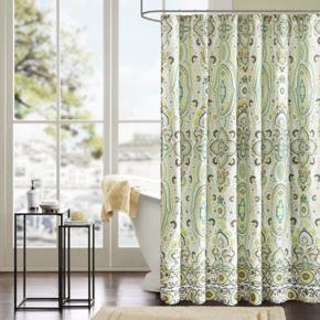 Intelligent Design Ellie Microfiber Fabric Shower Curtain