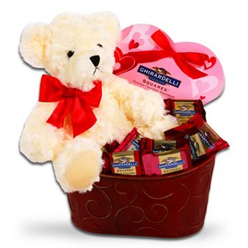 Ghirardelli Bear Chocolate Valentine's Day Gift Set