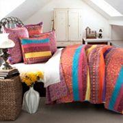 Lush Decor Boho Stripe 5 pc Reversible Quilt Set