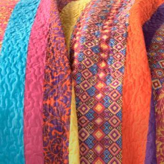Lush Decor Boho Stripe 5-pc. Reversible Quilt Set