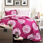 Lush Decor Sophie 3 pc Reversible Quilt Set