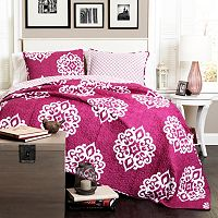 Lush Decor Sophie 3-pc. Reversible Quilt Set