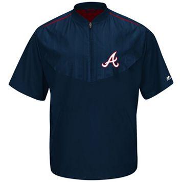 Men's Majestic Atlanta Braves On-Field Cool Base Training Jacket