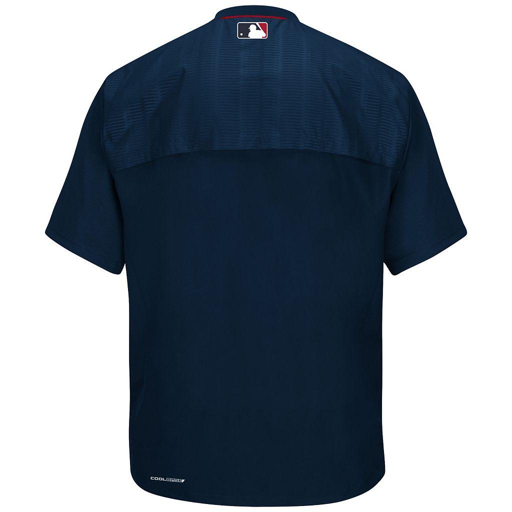 Men's Majestic Cleveland Indians On-Field Cool Base Training Jacket