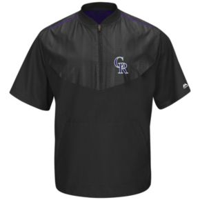 Men's Majestic Colorado Rockies On-Field Cool Base Training Jacket