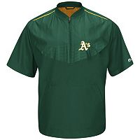 Men's Majestic Oakland Athletics On-Field Cool Base Training Jacket