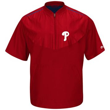 Men's Majestic Philadelphia Phillies On-Field Cool Base Training Jacket