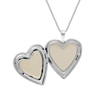 """Treasured Moments Sterling Silver & 14k Gold Over Silver """"I Love You More"""" Heart Locket Necklace"""