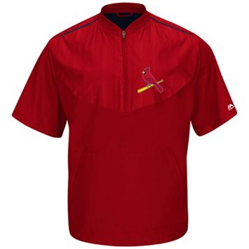 Men's Majestic St. Louis Cardinals On-Field Cool Base Training Jacket